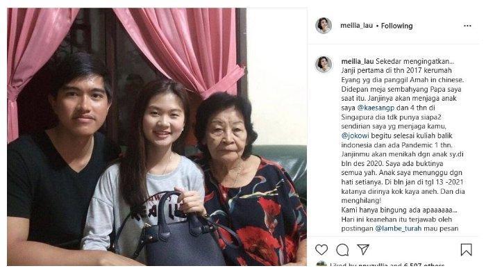 Nama Kaesang Ramai di Medsos, Meilia Lau Ibunda Felicia Unggah Kekecewaan pada Putra Bungsu Jokowi