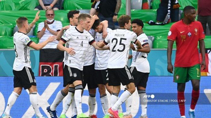 HASIL Portugal vs Jerman Euro 2020, 2 Bek Selecao Cetak Gol Bunuh Diri, Der Panzer Menang 2-4